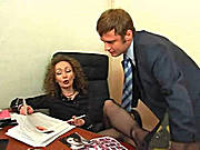 Gorgeous MiLF Sucking Cock in the Office